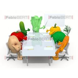 riunione di verdure