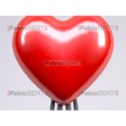 Heart with fork skewered on it