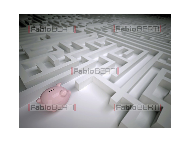 labirinto e salvadanaio