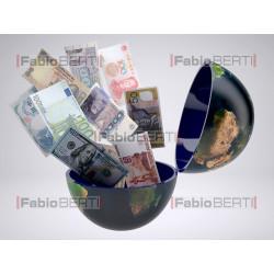 mondo con banconote