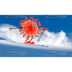 coronavirus sugli sci