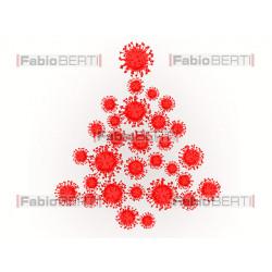 albero di natale con coronavirus