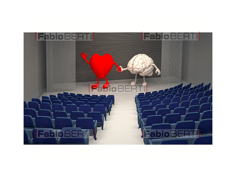 heart and brain on stage