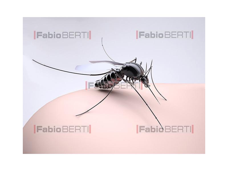 zanzara su dito