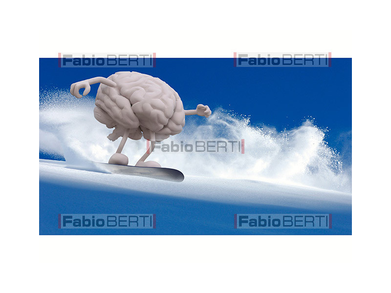human brain snowboarding