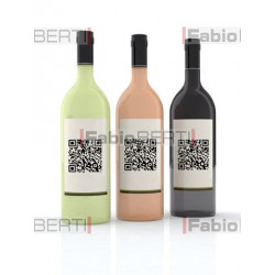 bottles of wine with qr code