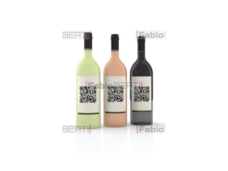 bottiglie di vino codice qr