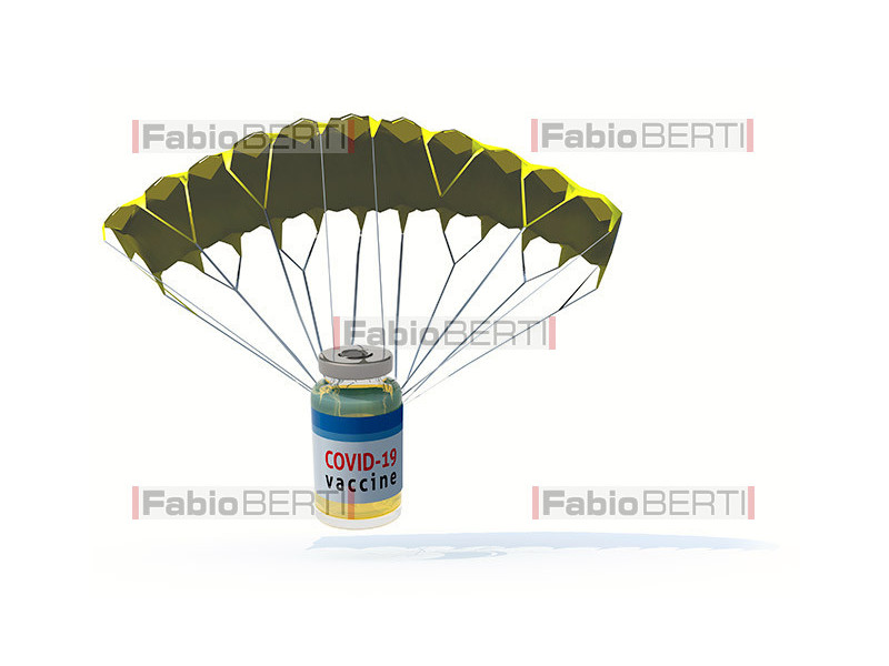 vaccine bottle with parachute