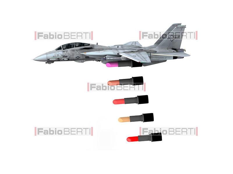 warplane launching lipstick