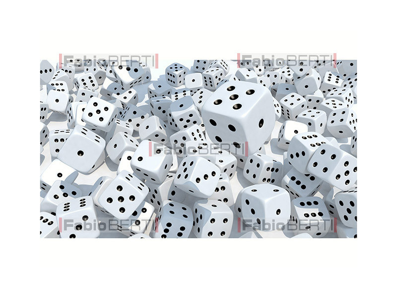 many game dice thrown
