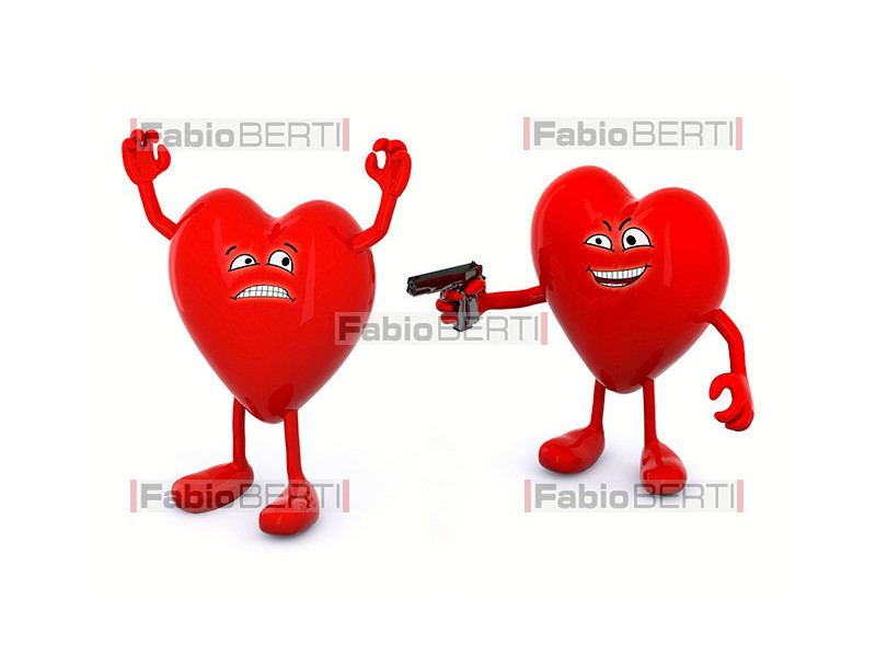 two hearts in quarrel