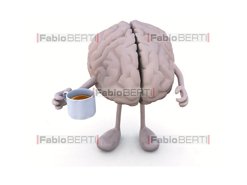 brain with coffee