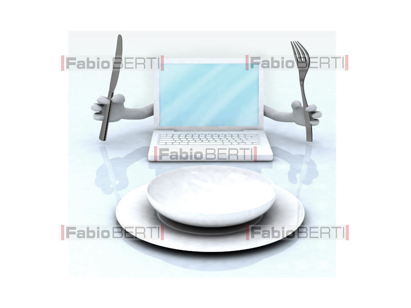 notebook in front of a plate