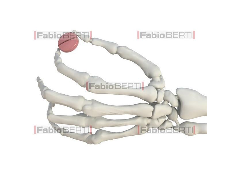 mano scheletro con syringe