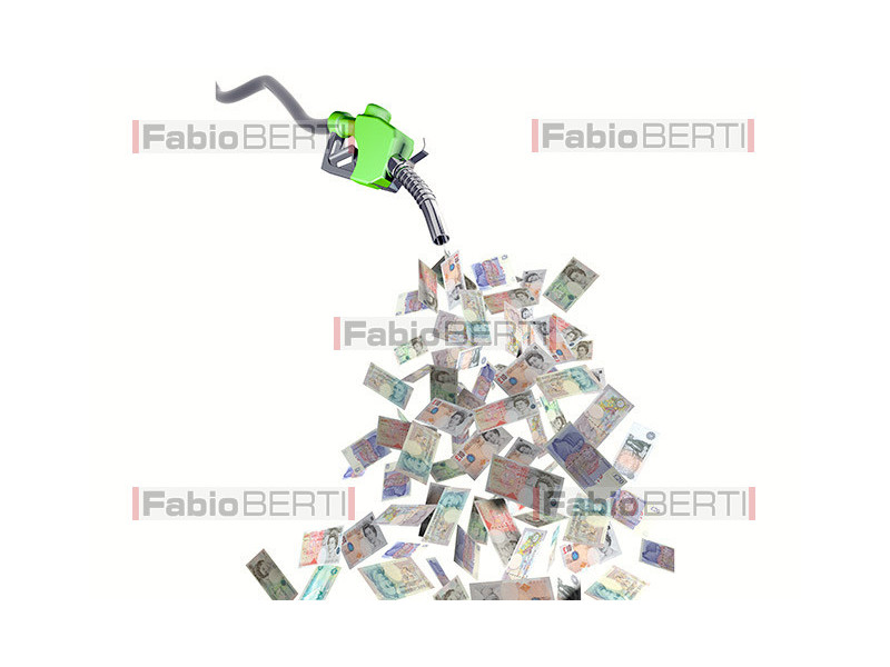 fuel pump pound banknotes