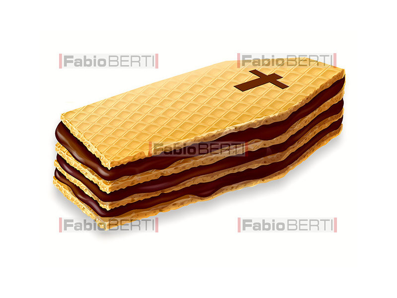 coffin-shaped wafer biscuits