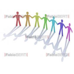 men rainbow paper