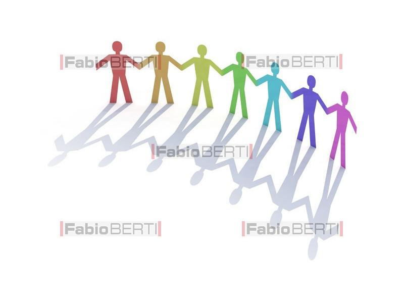 men paper rainbow