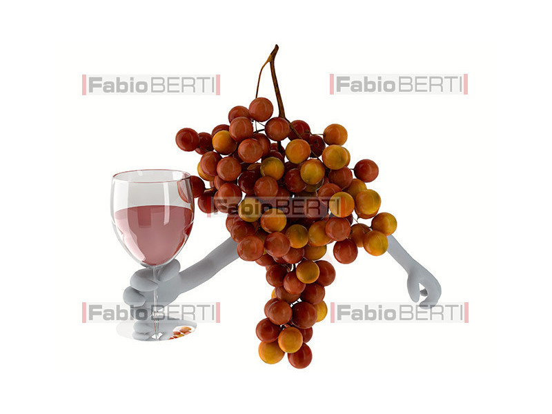 grapes with a glass of wine