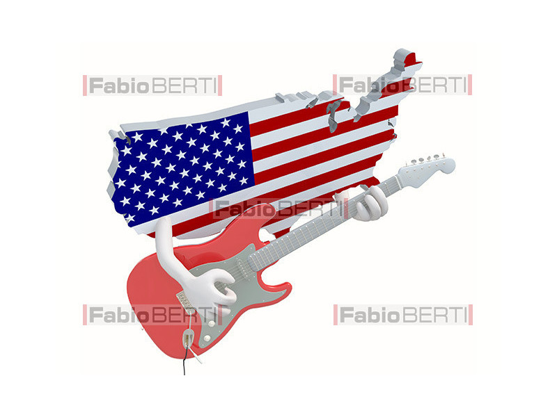 America with guitar
