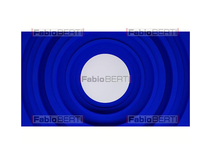 blue concentric circles geometric