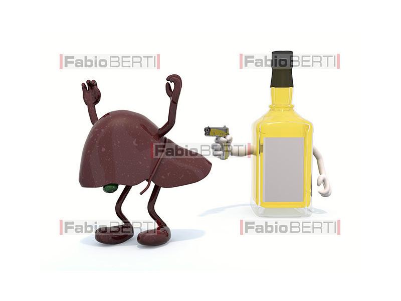 bottiglia whisky vs fegato