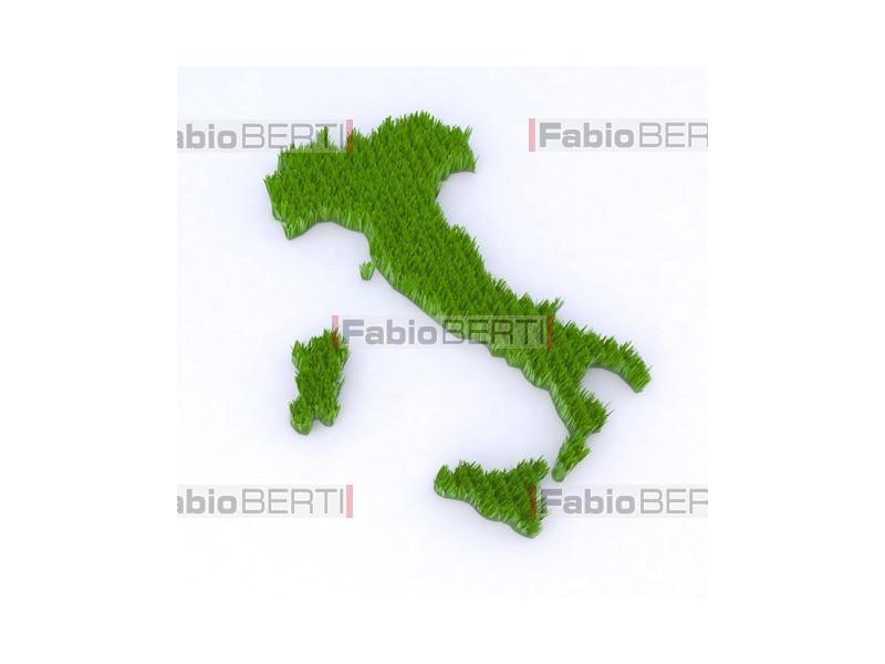 Italia con erba