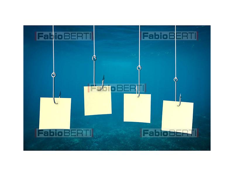 fishing hooks with postit