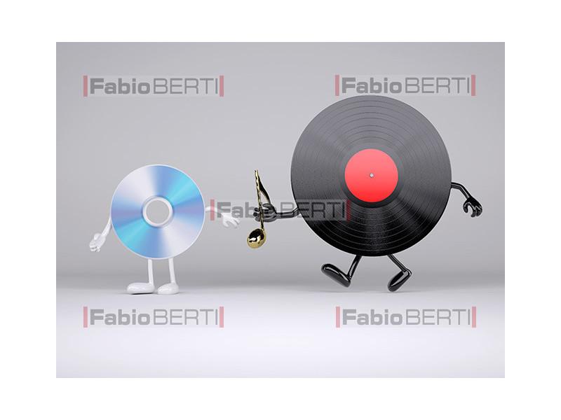 relay between a cd and a vinyl