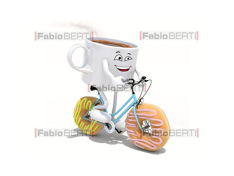 cup of coffee on bicycle
