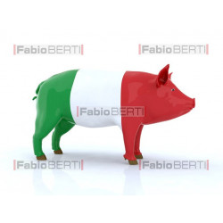 pork with Italian flag