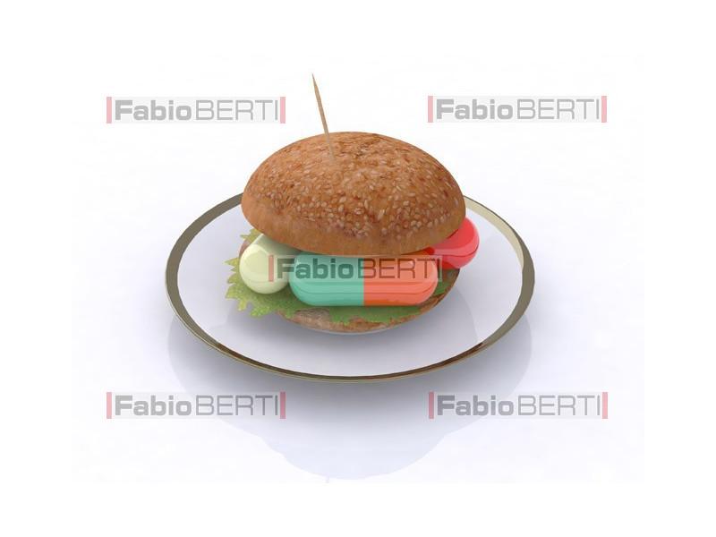sandwich with pills