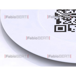 plate with a QR code