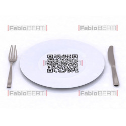 piatto con codice a barre QR