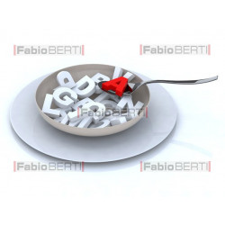 plate full of alphabet letters