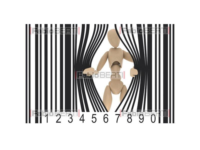 burattino codice a barre