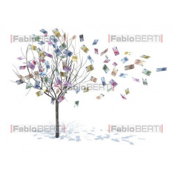 albero foglie euro