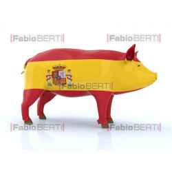 pork with Spain flag