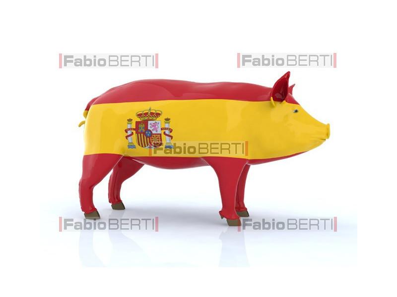 pork with Spain flag