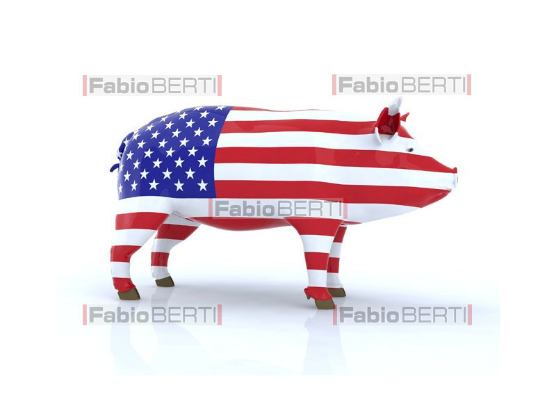 pork with American flag