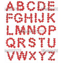 alfabeto cuori