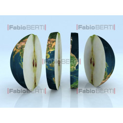 the world sliced apple