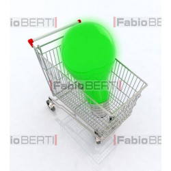 green bulb in cart