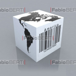dice with barcode america