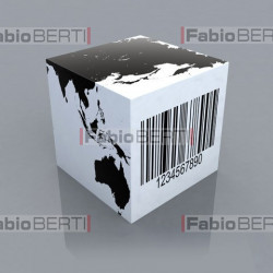 dice with barcode 3