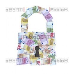 padlock with euro