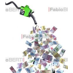 fuel pump euro banknotes