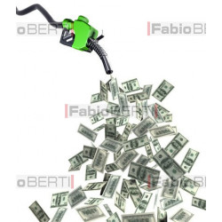 fuel pump dollar banknotes