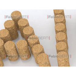 written aiuto (help in italian) with corks