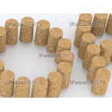 written stop with corks